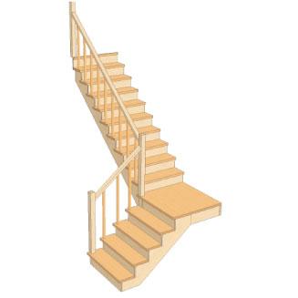 Лестница с площадкой с поворотом на 90 своими руками