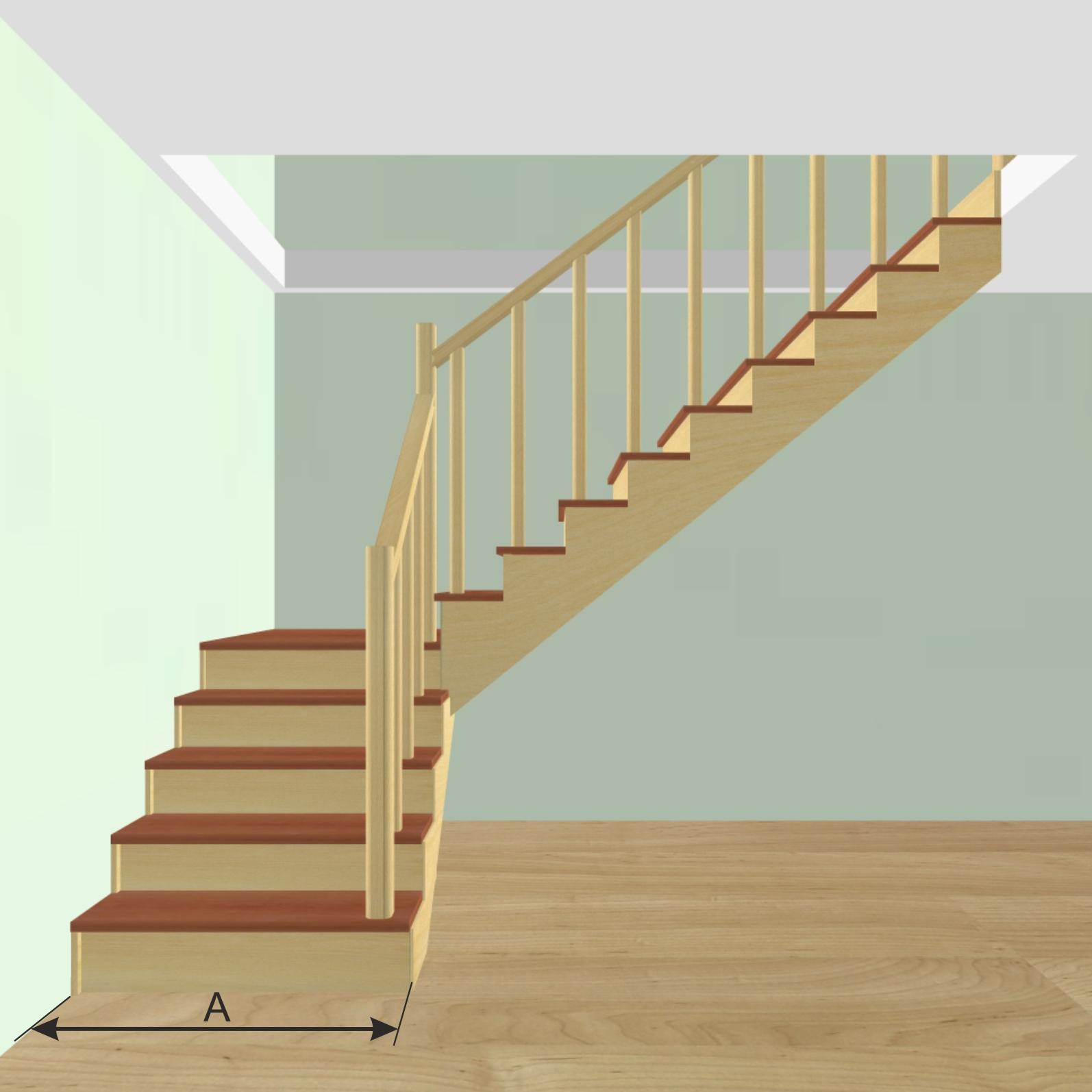 Г г-образная лестница на второй этаж своими руками 58