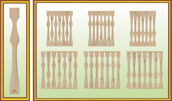 Деревянные резные балясины для лестницы